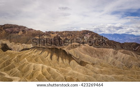 A stunning view from Zabriskie Point just above Death Valley National Park in California