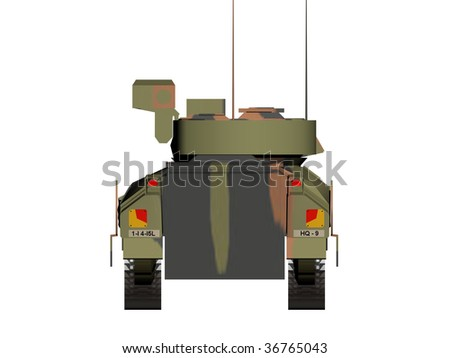 A style of tank for army . 3D render