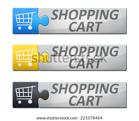 A stylish web banner with text shopping cart