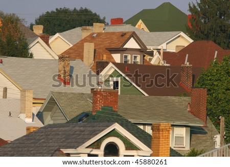 A suburban Pittsburgh neighborhood. - stock photo