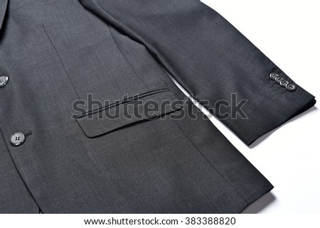 A suit jacket from a high angle view - stock photo