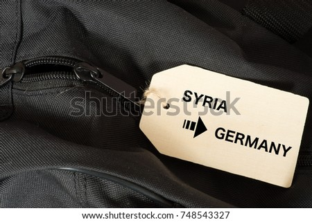A suitcase and immigration from Syria to Germany