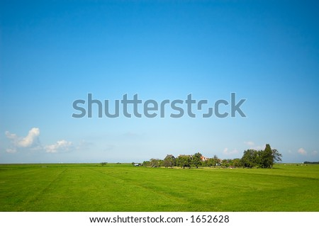 a summer landscape - stock photo