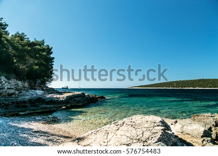 a sunny day at the sea in Croatia