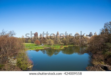 A sunny day in Central Park, New York, USA.