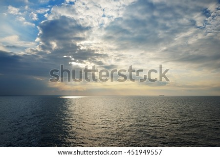 A sunrise at the open Baltic sea