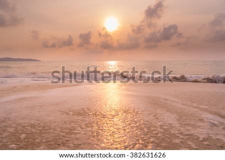 stock photo a sunset at the beach 382631626 - Каталог — Фотообои «Закаты, рассветы»
