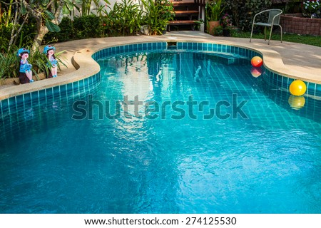 A Swimming pool - stock photo