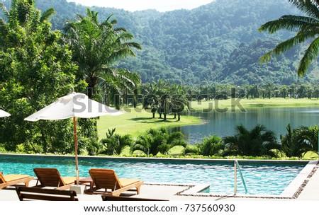 swimming pool fitness club phuket tropical stock photo royalty free