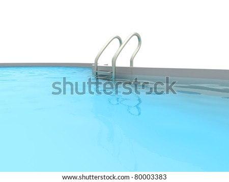 A Swimming pool. 3D rendered Illustration. - stock photo