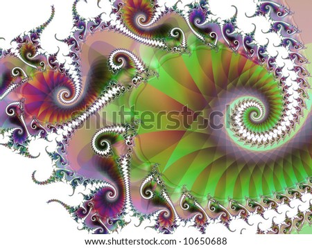 A swirling abstract fractal. - stock photo