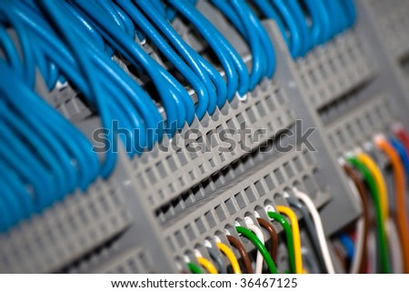 A system of connected wires - stock photo