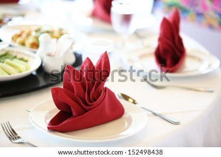 A table set for a celebrities meal - stock photo