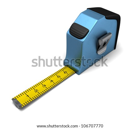 A tape measure with the strip out showing measurements example