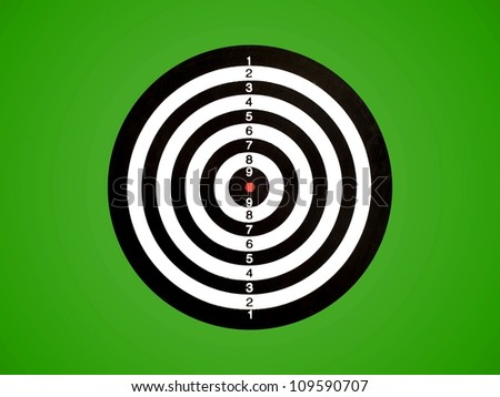 A target isolated against a green background