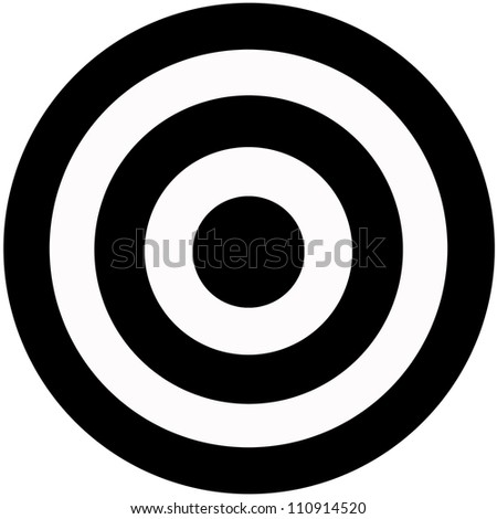 A target isolated against a white background - stock photo