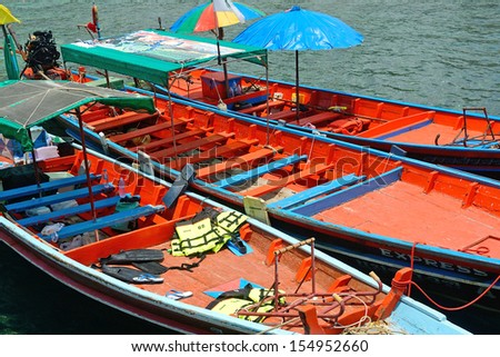 a taxi boat from thailand for island to island