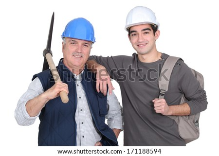 A team of labourers - stock photo