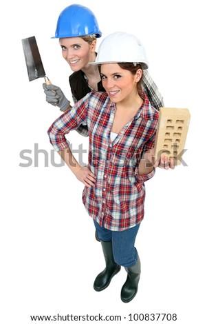 A team of tradeswomen - stock photo