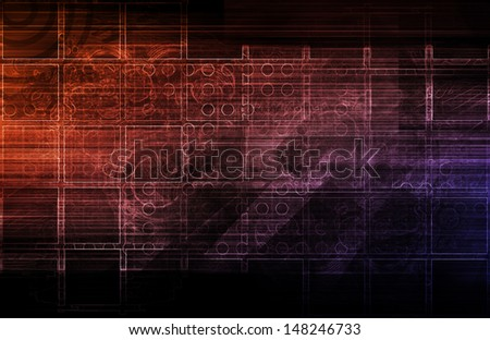 A Tech Futuristic Business Chart Abstract Art