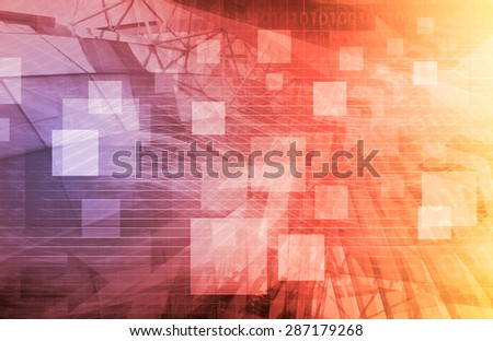 A Technology Industry Network As a Wallpaper - stock photo