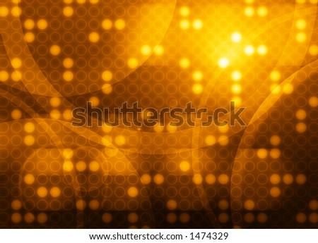 A techy background made up of overlapping circle shapes - stock photo