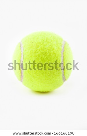 A tennis ball against a white background