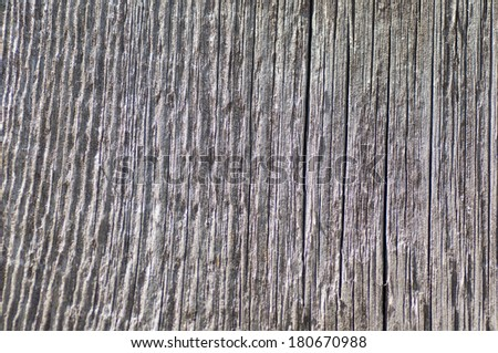 a Texture of old wood background closeup.