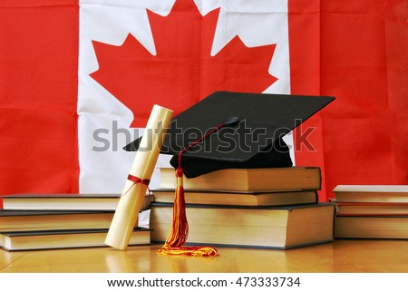 A theme based image of canadian school and education.