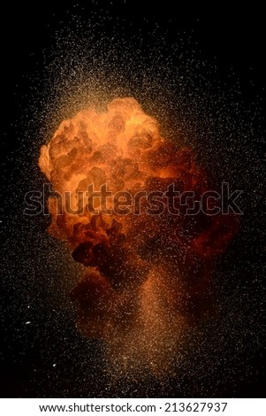 A thermite explosion in extremely high exposure.