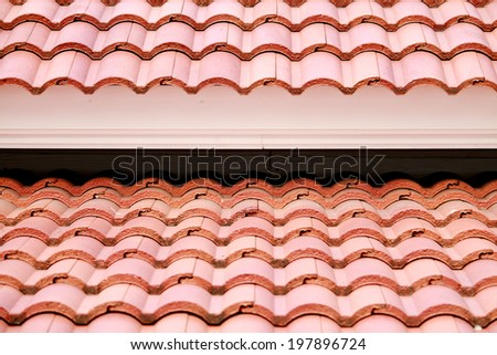 A tile roof texture