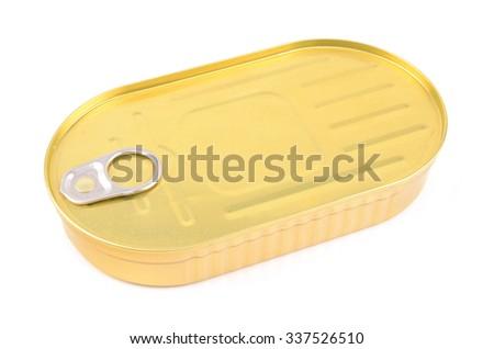 a tin can - stock photo