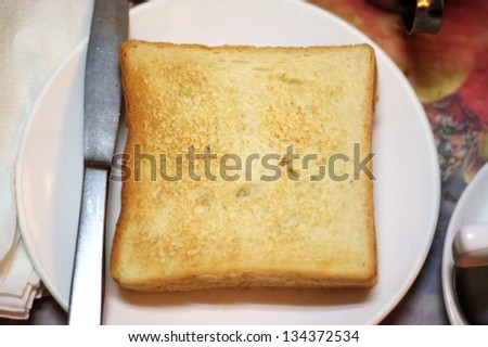 A toasted slice of bread. - stock photo