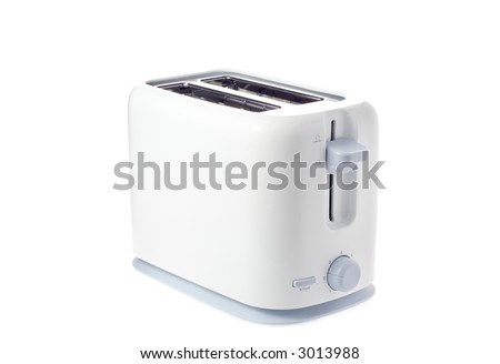 A toaster isolated against white background - stock photo