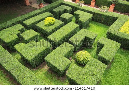 Hedge maze stock images royalty free images vectors for Garden maze designs
