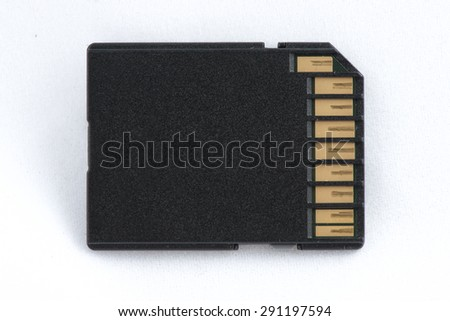 A topview close-up top view of an sdcard. - stock photo