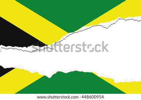 A Torn Flag Illustration of the country of Jamaica - stock photo