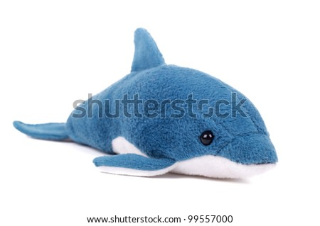 a toy of killer whale - stock photo