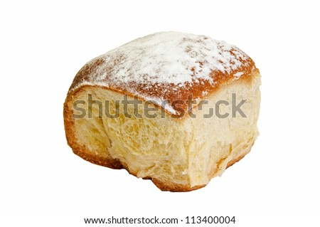 A traditional Czech cake with sweet filling. - stock photo