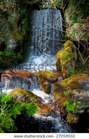 a traditional Japanese landscape garden - stock photo