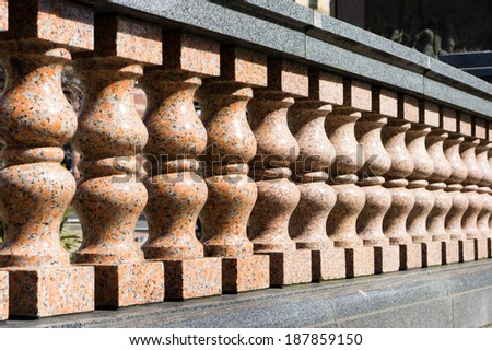 A traditional marble wall in Leeds, UK - stock photo