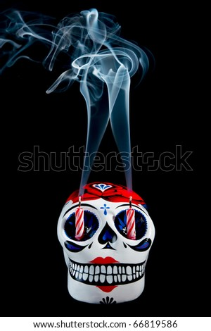 a traditional mexican symbol of the day of the dead - stock photo