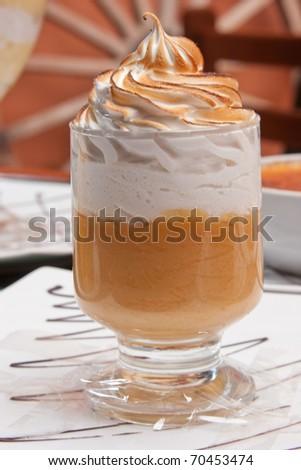 """A traditional Peruvian dessert : """"Suspiro a la lime�±a"""" - stock photo"""