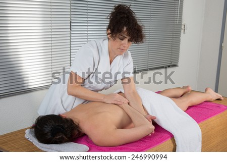 A traditional thai massage by therapist