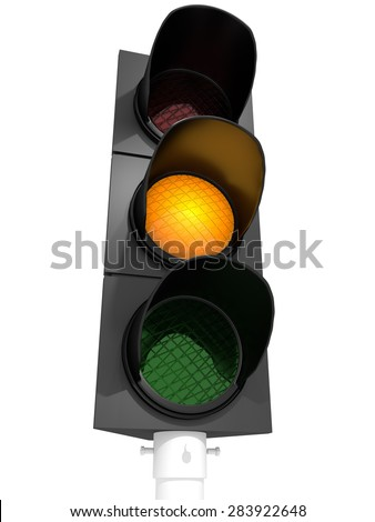 A traffic light with an active green light