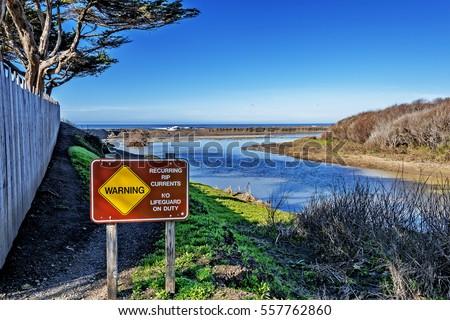 Moonstone Beach Sign