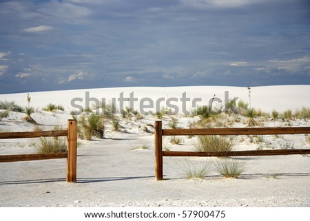 A trailhead at White Sands National Monument, New Mexico