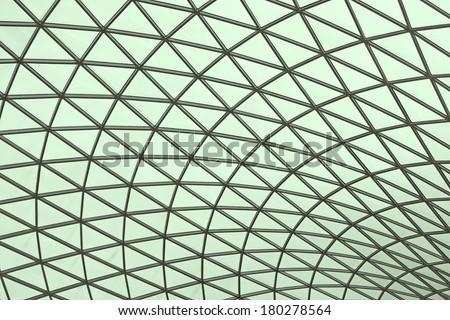 A triangular mesh roof, truss - stock photo