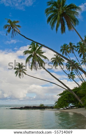 a tropical holiday island in samoa