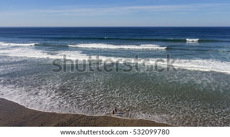 A tropical ocean with small wave.